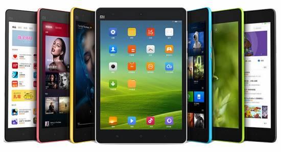 Цветовая палитра планшета Xiaomi MiPad