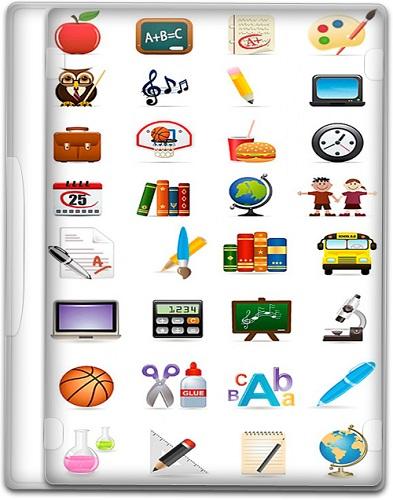 Скачать качественные школьные иконки в векторной графикой в формате EPS