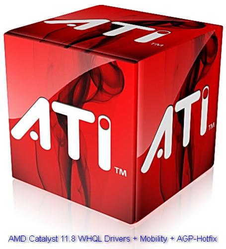 Скачать бесплатно AMD Catalyst 11.8 WHQL Drivers + Mobility + AGP-Hotfix (Eng/Rus) х32/х64