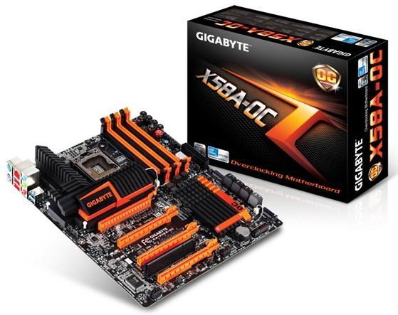 Gigabyte представила материнскую плату X58A-OC для оверклокеров