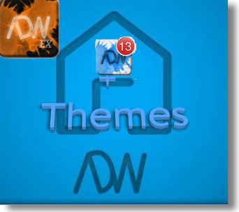ADWLauncher EX v.1.2.2 + рабочий стол от ADW + дополнение Themes/ADWNotifier v.0.7/Home Switcher v.1.4