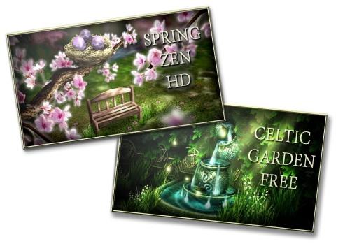 Spring Zen HD v.1.12 + Celtic Garden HD v.1.3 - высококачественные живые обои