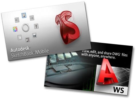 AutoCAD WS v.1.0.3 + Autodesk SketchBook Mobile v.1.2 - мобильная версия AutoCAD + Графический редактор