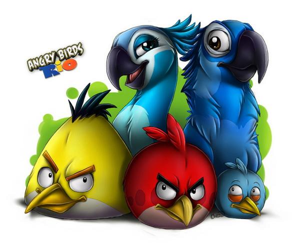 Скачать нашу любимую игру Angry Birds Rio - птички атакуют